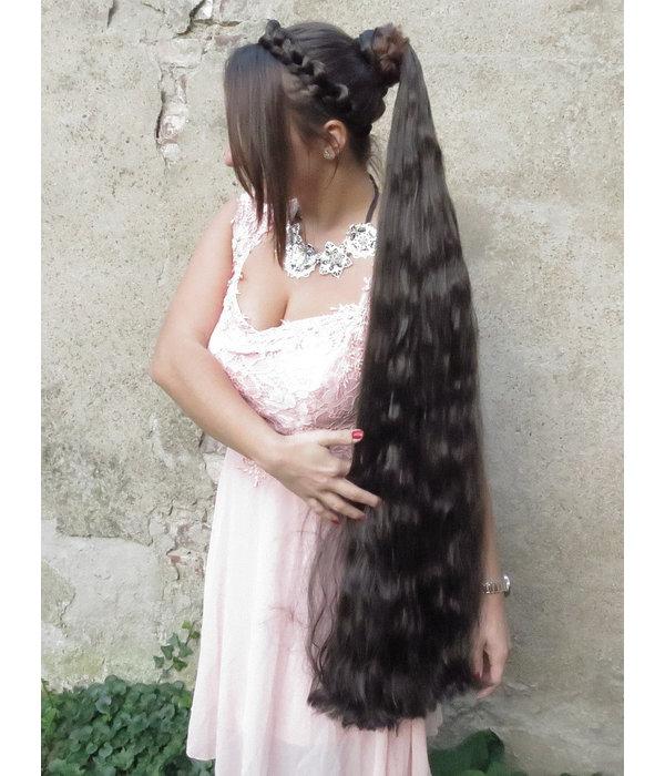 Rapunzel & Goth Hair Falls M extra, wavy hair