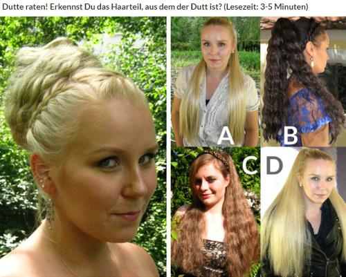 Dutte raten - aus welchem Haarteil ist der Dutt frisiert?