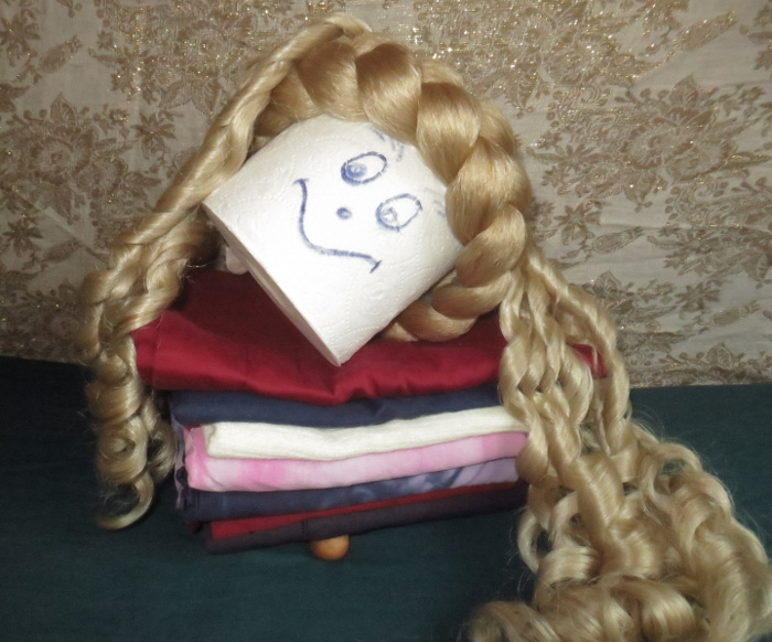 Sissi curls for historic hair styles and a chunky Gretel braid headband.