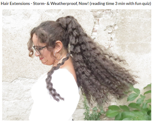 Hair extensions in stormy weather with film quiz