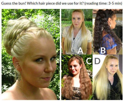 Can you see which hair pieces we used for the buns?