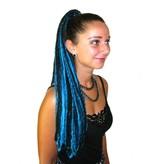 Dreadlocks Haarteil Türkis-schwarze Goth Dreads