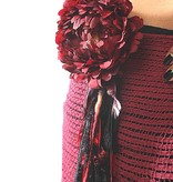 Red Passion hip & hair tassels