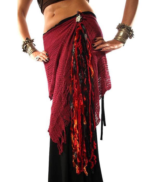 Fire Dragon yarn falls/ tassels