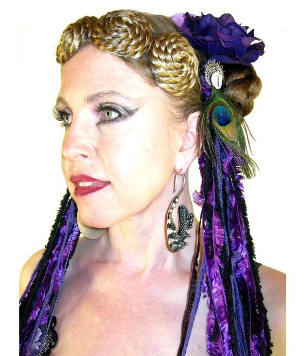 Purple Passion (Pfau) Gürtelclip