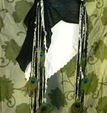 Snow White Peacock Goth Yarn Falls