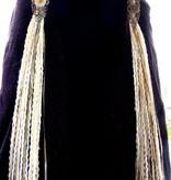 Steampunk Antique belt & hair tassel clip