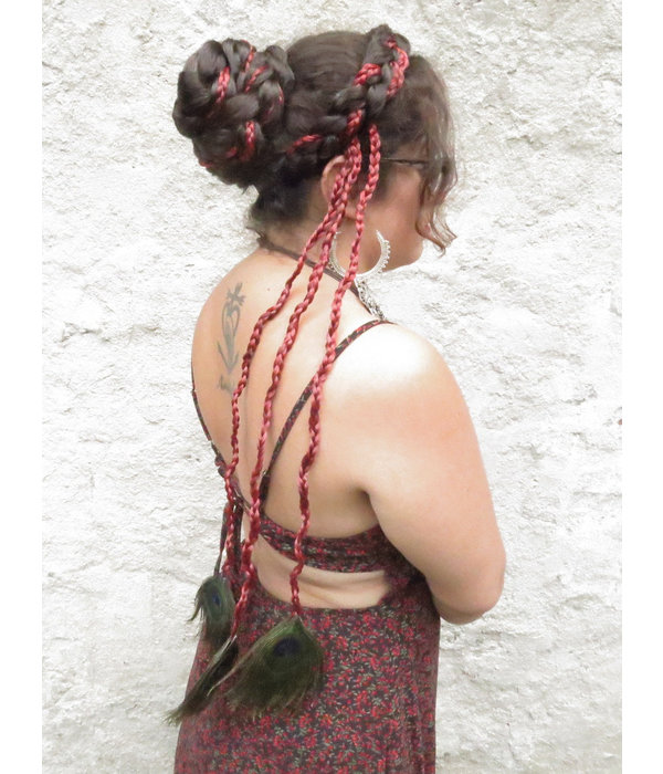 Peacock Extensions 3 Braids, chili red