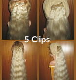 Clip-in Extensions, gewelltes Haar