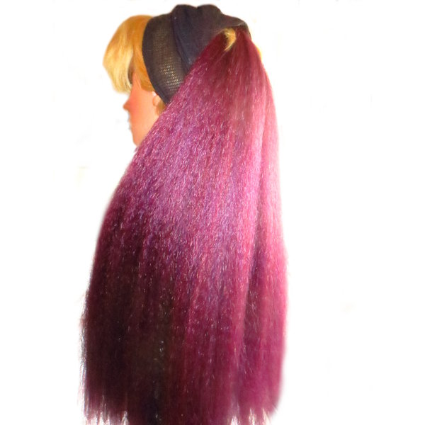 Clip-in Extensions, crimped hair