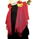 Red Glamour hip scarf