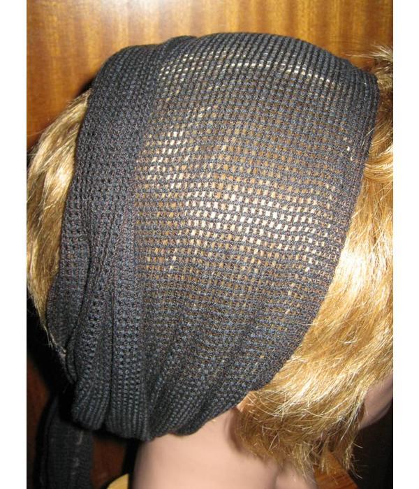 Black-mocca net hip & hair scarf