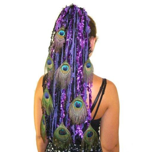 Purple Passion Pfau Haarteil