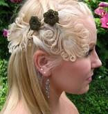Pfauenfeder Haarclip - helle Federn