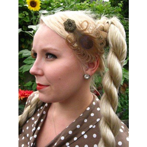 Antiker Pfauenfeder Haarclip