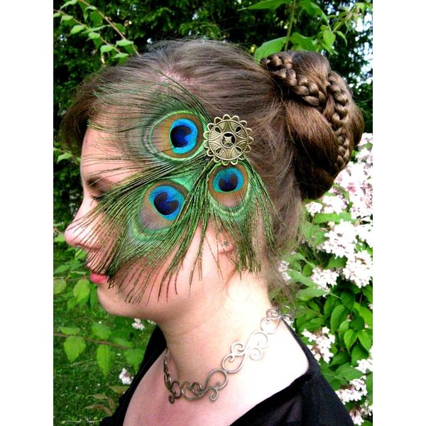 Peacock Fantasy Headpiece