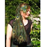 Peacock Feather Fantasy Headpiece