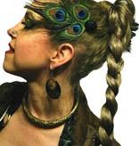 Peacock Feather Tribal Headpiece - black