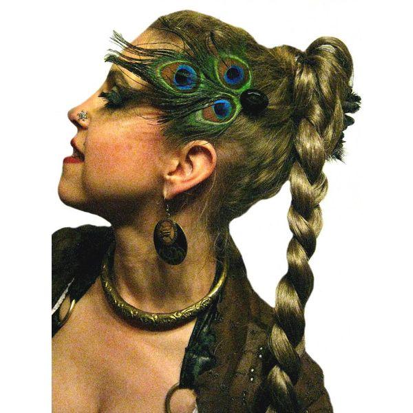 Pfauenfeder Tribal Haarschmuck