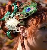 Pfauenfeder Haarclips - gemischtes Set
