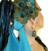 Pfauenfeder Headpiece Silberblume