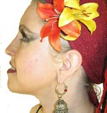 Gipsy Double Lily Hair Flower 2 x