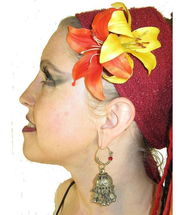 Boho Haarblüte Lilie doppelt 2 x