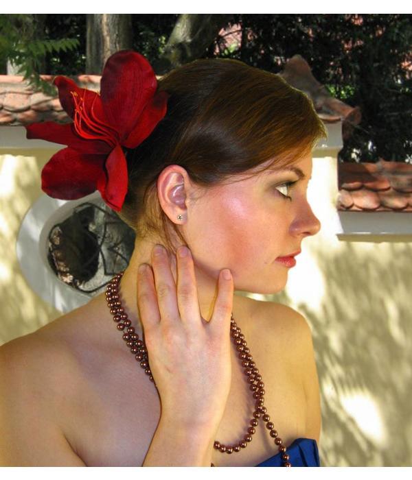 Haarblüte Lilie dunkelrot 2 x