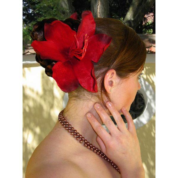 Dark Red Lily 2 x