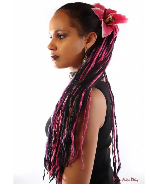 Haarblüte Lilie pink 2 x