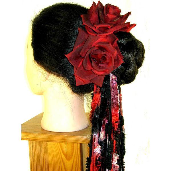 Rose schwarz-rot 2 x