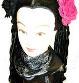 Black & Pink Rose Hair Flowers