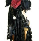 Haarblüten Rose schwarz & weinrot