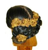 Haarblüte Rosen rostbraun