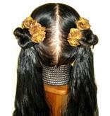 Rust-Brown Rose Hair Flowers