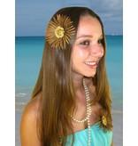 Gipsy Button Daisy Hair Flower 2 x