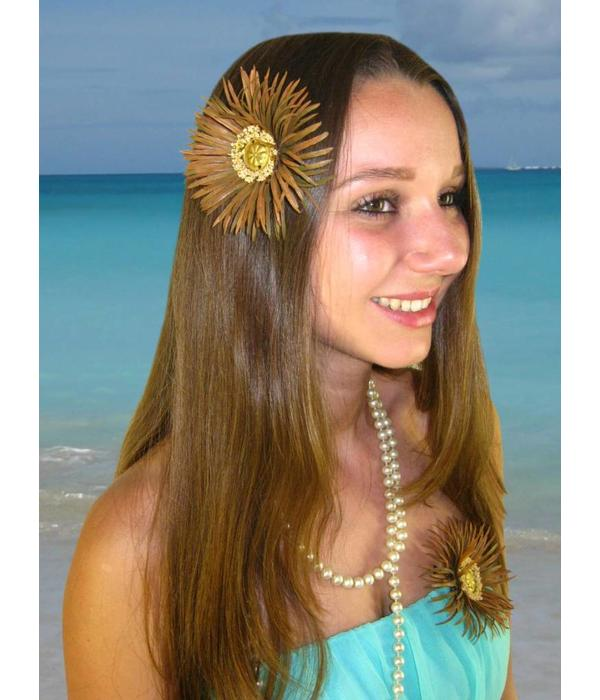 Gipsy Button Daisy Hair Flower 2 x