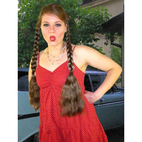 Braids 2 x M size, wavy hair