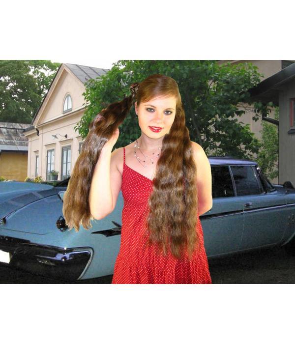 Zöpf 2 x Größe M, gewelltes Haar
