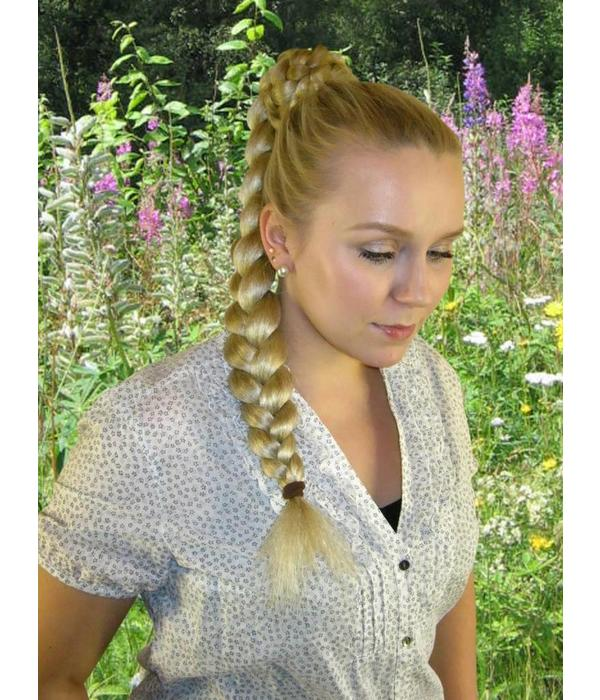 Braid/ Plait M size, crimped hair