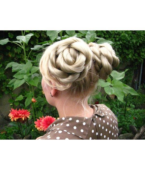 Twist Braids/ Plaits 2 x S size for pigtails, wavy hair