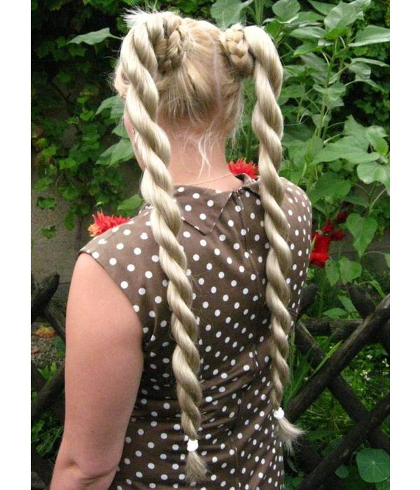 Twist Zöpfe 2 x Größe S, gewelltes Haar