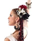 Gothic Belly Dance Haarblüten Set