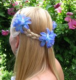 Blue-Turquoise Lily Hair Flowers
