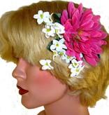 Pink Fairy Hair Flower 2 x