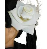 Cream-White Rose Hair Flower 2 x