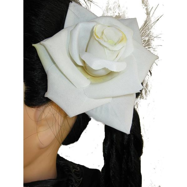 Rose creme-weiß 2 x
