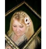Shabby Chic Gerbera Hair Jewelry 2 x