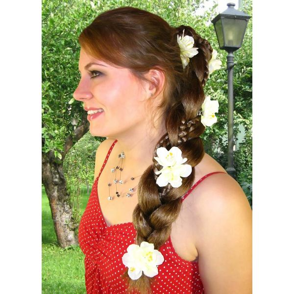 White Bollywood Hair FLowers