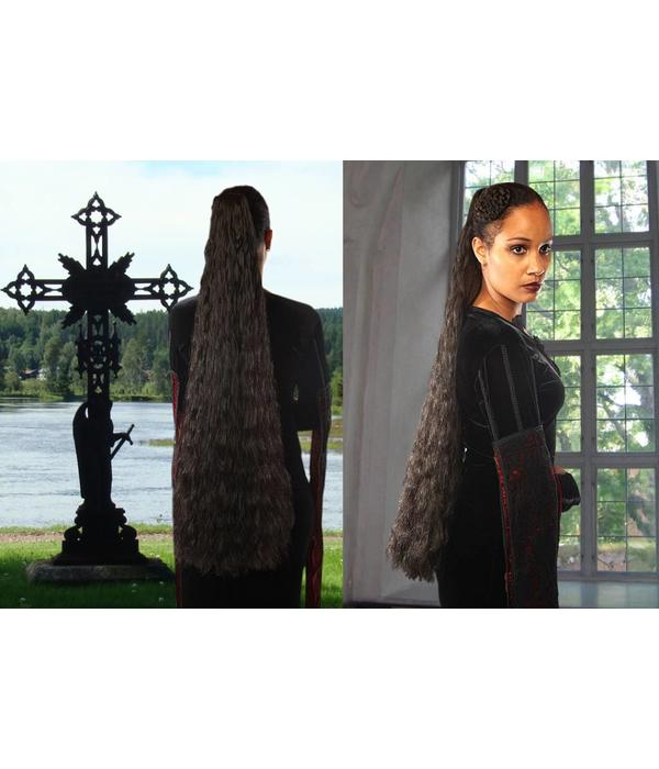 Braid size L extra, wavy hair